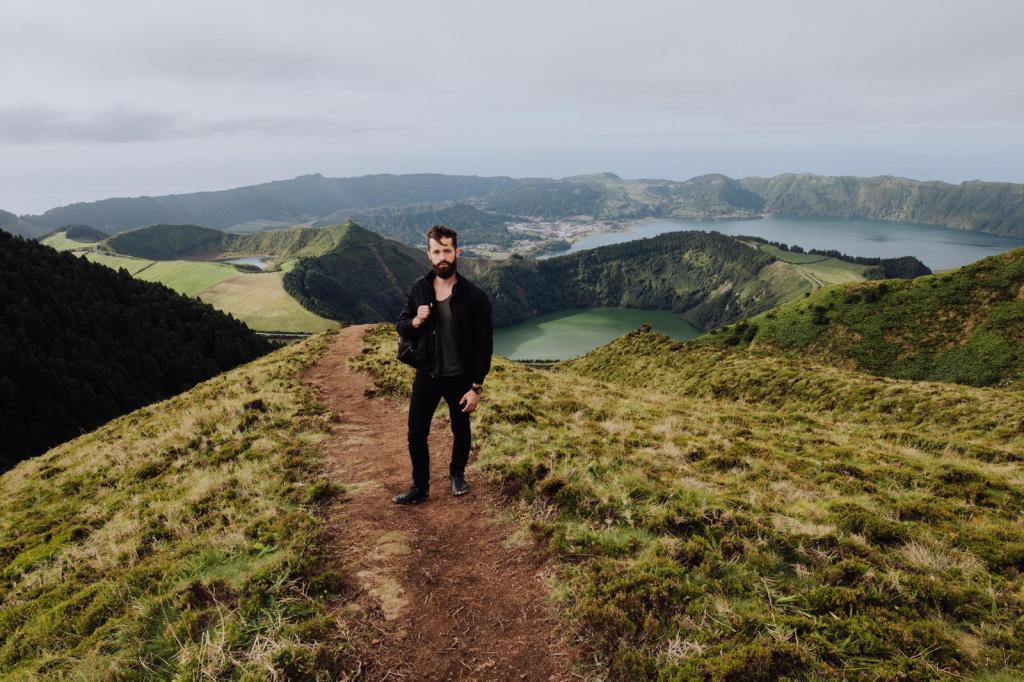 Michael Checkers at miradouro boca do inferno san miguel island azores