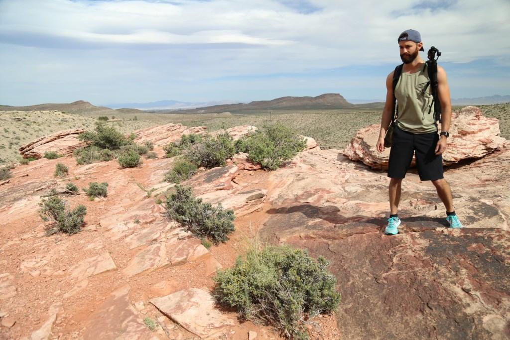Michael Checker's hiking Red Rock in Las Vegas with GoPro Hero 5 Karma Grip