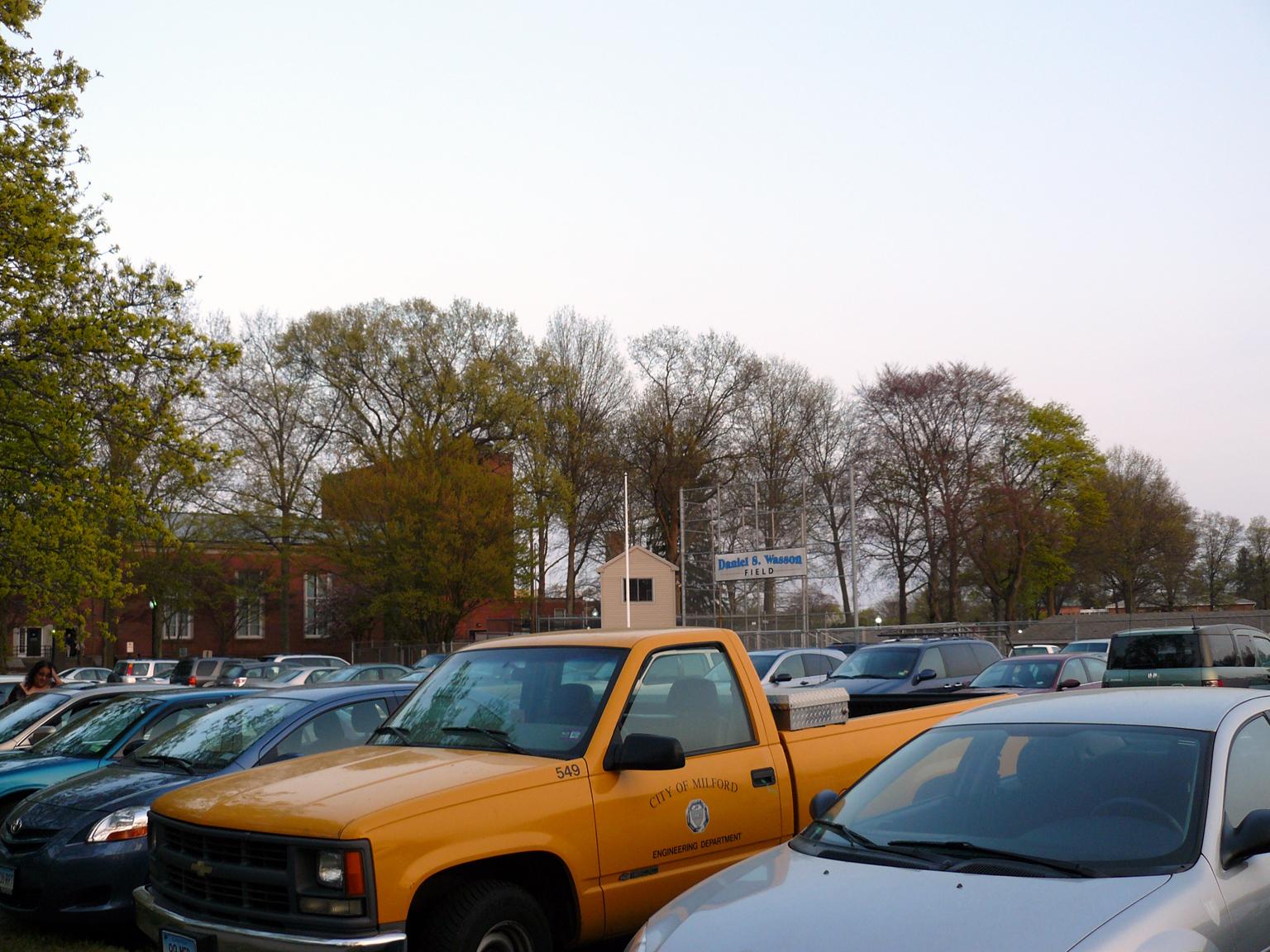 Auditorium parking lot