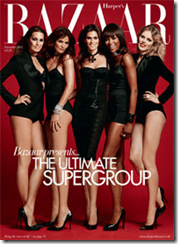 "Harper's Bazaar Dec 2011: ""Inside the world of the Supers"""