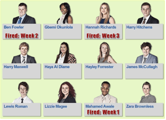 Young Apprentice Candidates - Week 3