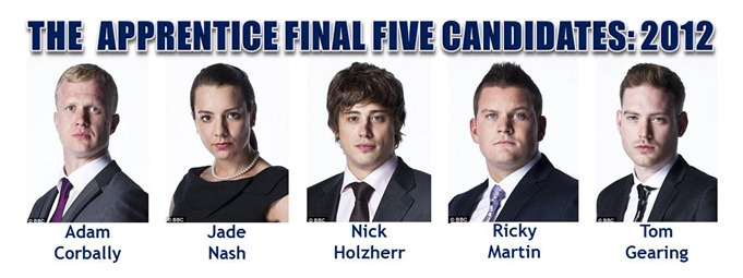 The Apprentice 2012, Final Five Candidates