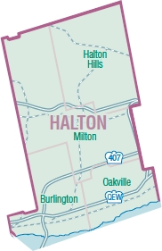Halton Region Map