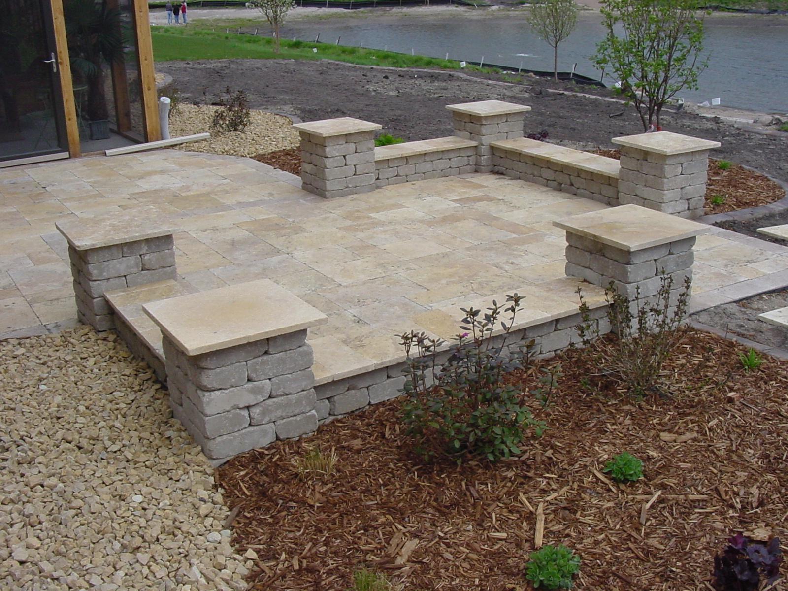 brick and stone patio ideas • patio ideas