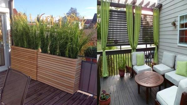 condo patio privacy ideas
