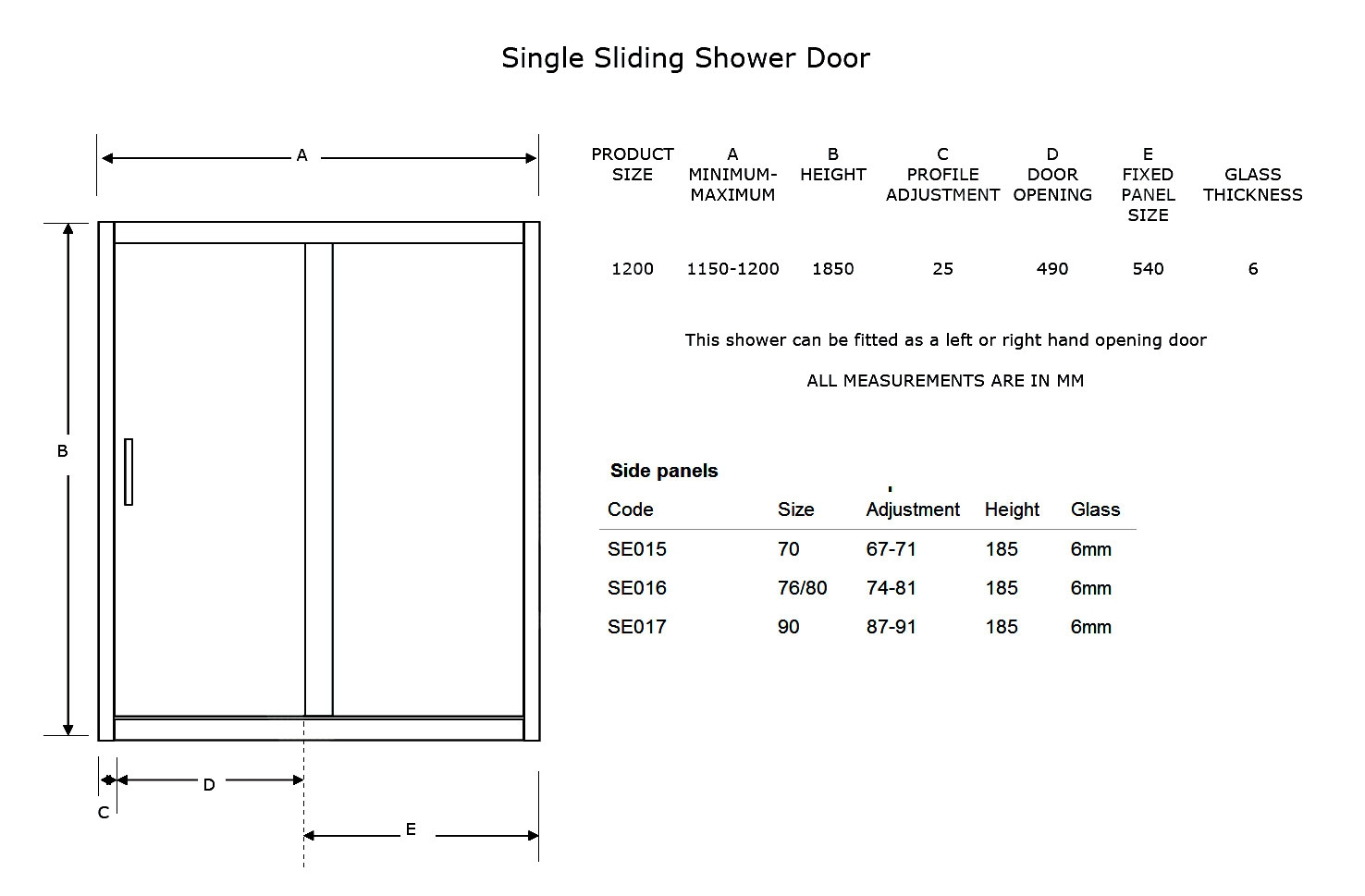 72 x 80 sliding door rough opening