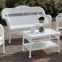 Faux White Wicker Patio Furniture Ideas