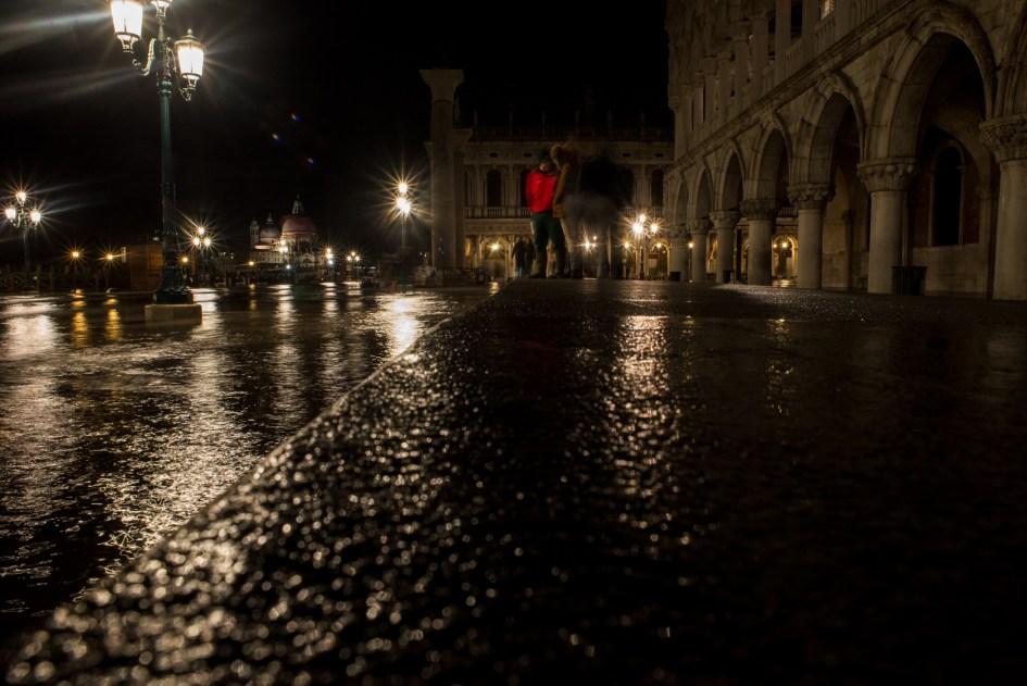 Venezia, Acqua Alta in Piazza San Marco.