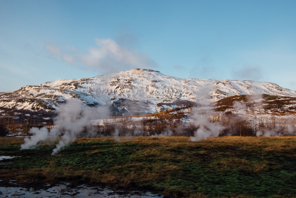 Iceland – Golden Circle, Strokkur Geysir. Trip to Iceland with Katie and Holly 1/1-1/7.