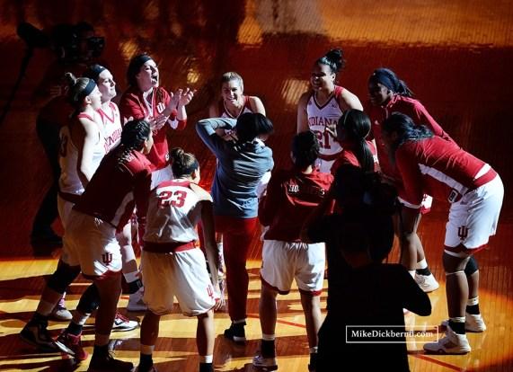 Team huddle