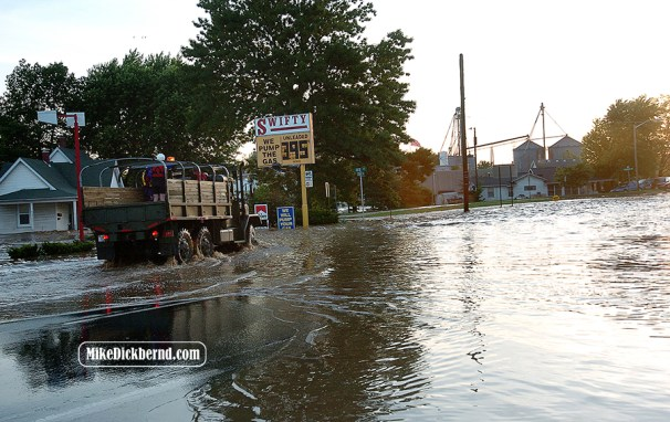 Columbus, IN flood, 2008