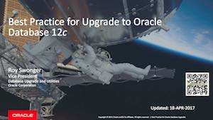 Best Practice - Upgrade - Oracle 12.2