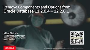 Component Cleanup Oracle 11.2, 12.1, 12.2, non-CDB, CDB