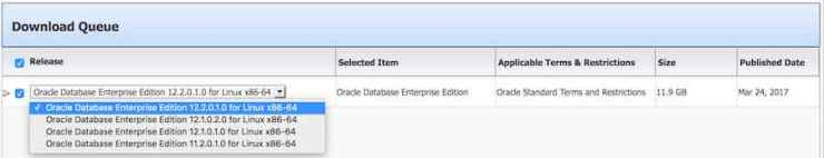 Drop Down List - alternate releases - edelivery