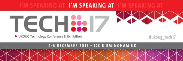 UKOUG Conference TECH17 in Birmingham