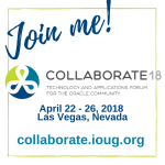 Collaborate IOUG 2018 in Las Vegas