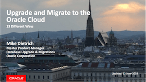 13 Different Ways to Migrate to the Oracle Cloud