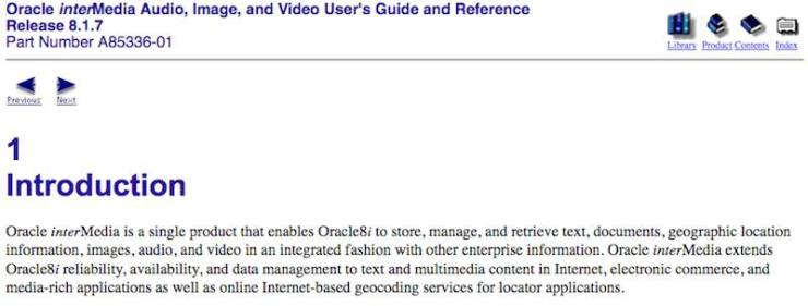 Oracle Multimedia is deprecated in Oracle 18c