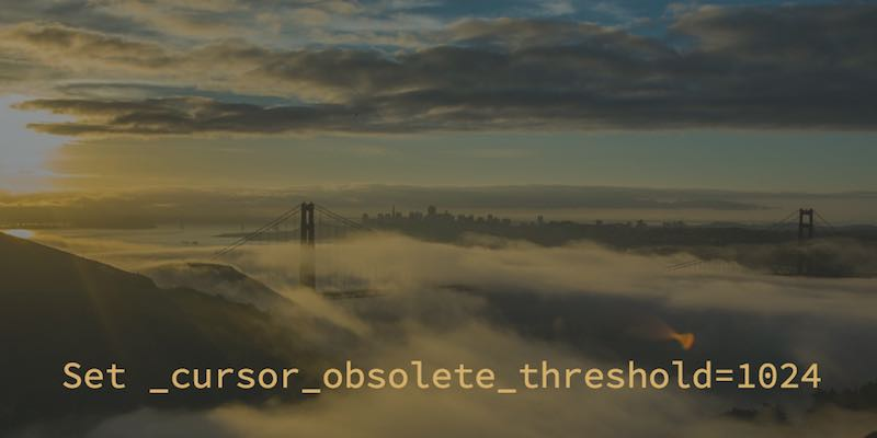 Oracle 12.2 and higher: Set _cursor_obsolete_threshold to old default