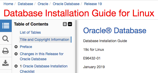 Oracle Database 19c requires OL7, RHEL7 or SLES12 or newer