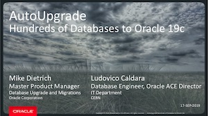 AutoUpgrade to Oracle 19c
