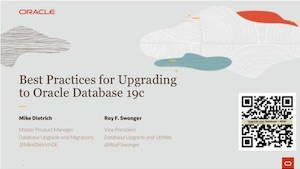 Best Practices Upgrade 19c