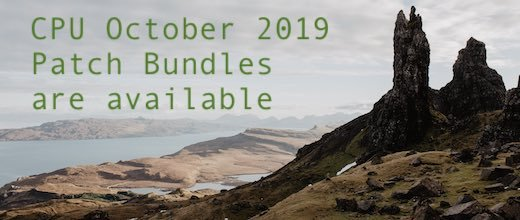 CPU October 2019 Patch Bundles are available