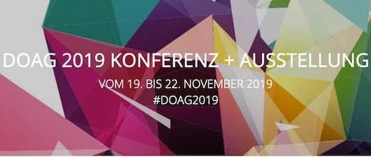 DOAG Conference 2019 - Our talks in Nürnberg next week