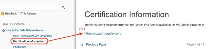 Oracle Fail Safe 4.2.1 Documentation