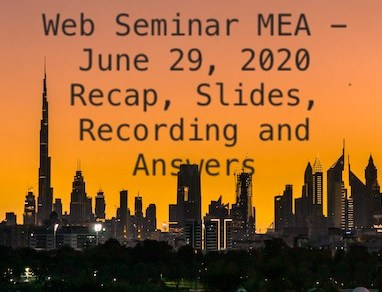 Web Seminar MEA - Recap, Slides, Recording and Answers