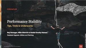 Performance Stability 4-MAR-2021