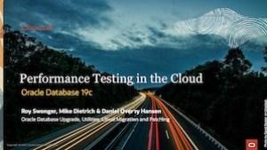 Web Seminar 9 - Performance Testing in the CLoud 19-MAY-2021
