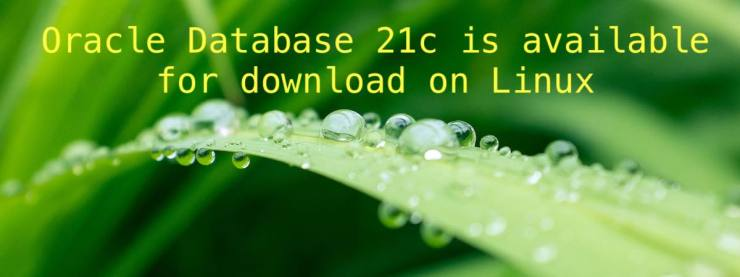 Oracle Database 21c is available for download on Linux