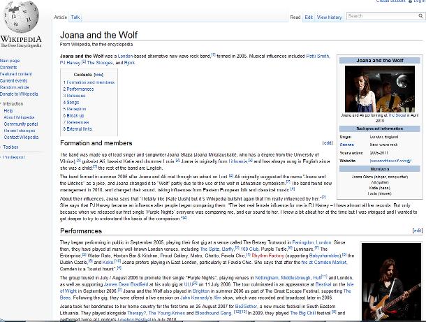Joana And The Wolf Wikipedia