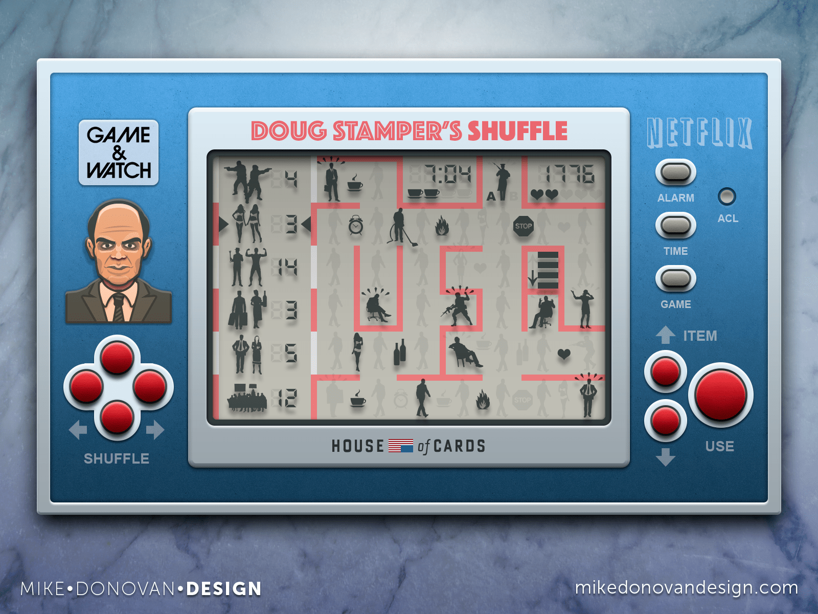 Doug Stamper's Shuffle Game Concept