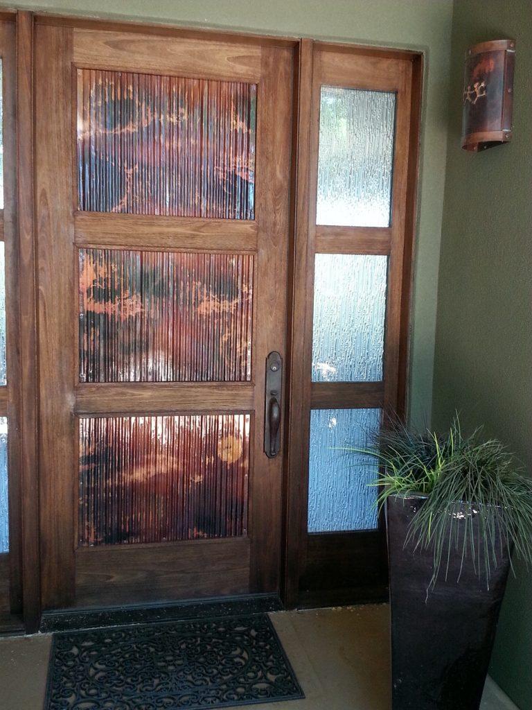 Corrugated Copper Door  Mike Dumas Copper Designs Blog