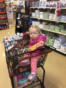 It's always good to have a helper at the store.