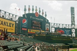 Comiskey before a White Sox game. Hey, at least they weren't losing yet!