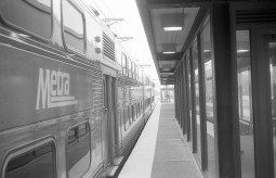 I took similar B&W photos of this same train with the Vitomatic IIa.