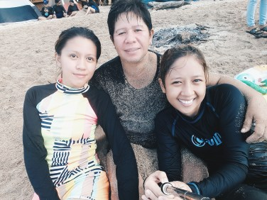 With mama and ate :)