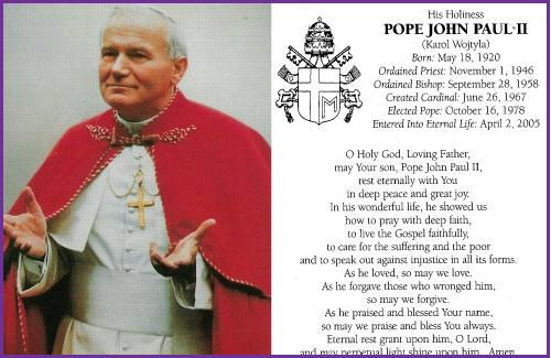 Santo Subito – The Blessed John Paul  II (Part Two)