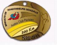 2011 200k Brevet Medal