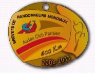 2011 600k Brevet Medal