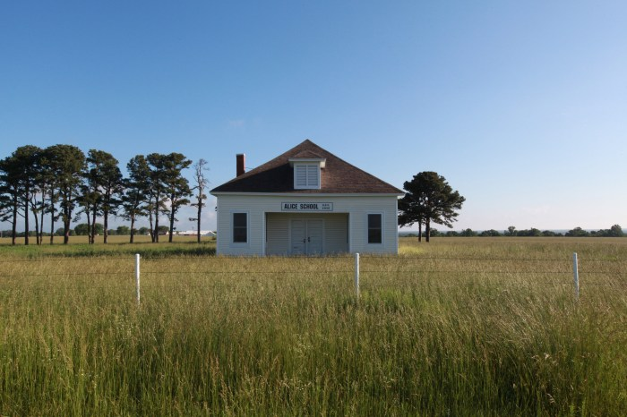 The Alice School is 98 years old. This single room school house isn't in use anymore, but is quite well maintained.