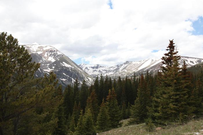 View from the top of Hoosier Pass.