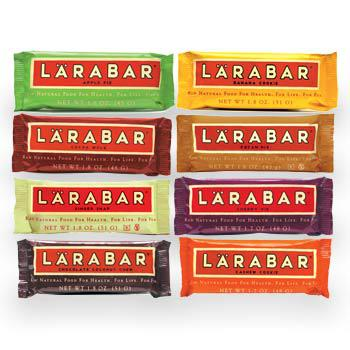 Lara Bars: 6/10. Pros: Can get gluten free. Cons: Hard to find. Doesn't really give me energy for some reason.