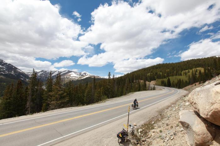 The final few miles up to Hoosier Pass.