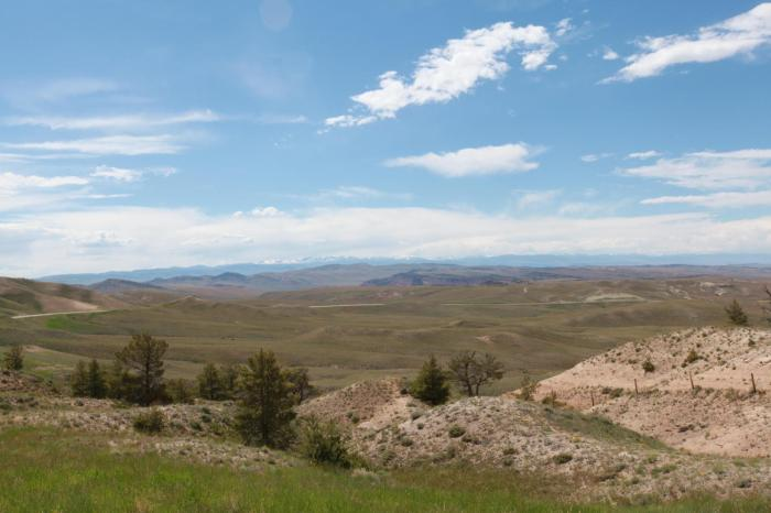 Mountains in the distance --Beaver Divide, WY