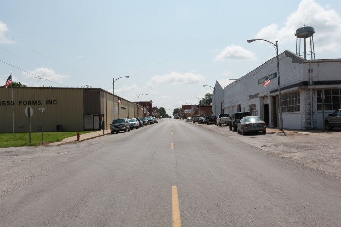 The town of Golden City, MO. This is literally as Middle America Main Street as you can get.