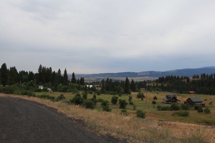 The view into the next valley after New Meadows, ID.